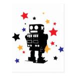 Estrella del robot postales