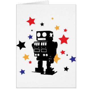 Estrella del robot tarjeta de felicitación