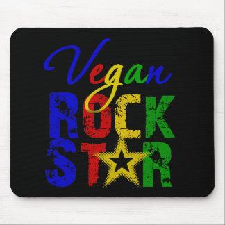 Estrella del rock 2 del vegano mousepads