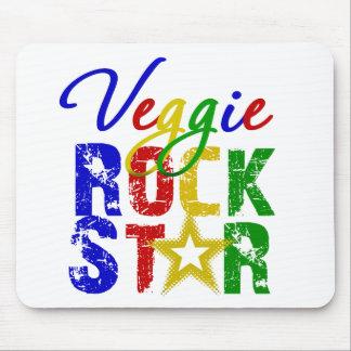 Estrella del rock 2 del Veggie Tapetes De Raton
