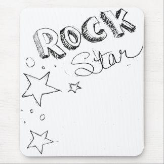 Estrella del rock alfombrilla de ratón