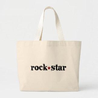 Estrella del rock bolsa tela grande