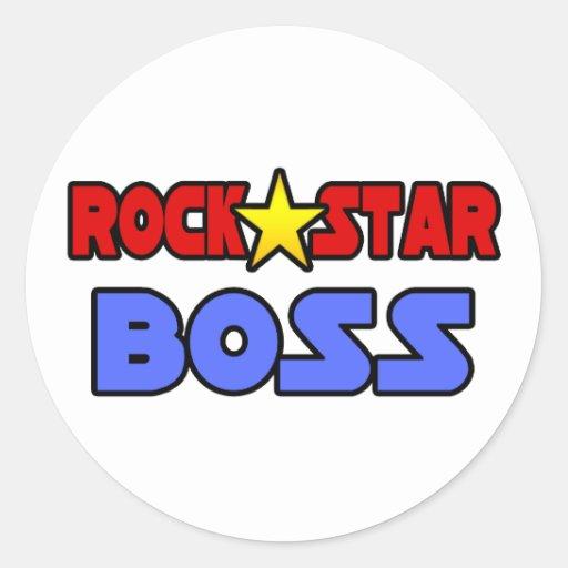Estrella del rock Boss Etiquetas Redondas