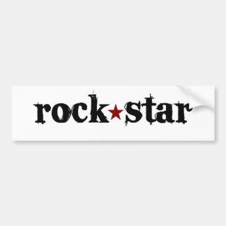 Estrella del rock pegatina de parachoque
