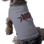 Estrella del rock camisas de mascota