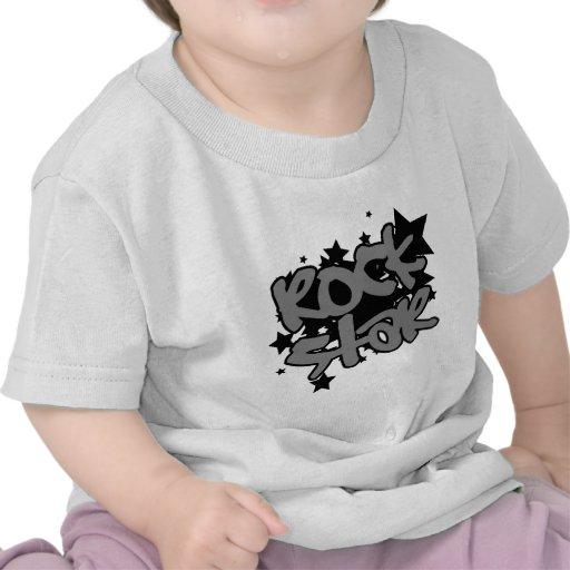 Estrella del rock con vector de la estrella en fon camiseta