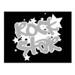 Estrella del rock con vector de la estrella en fon postal