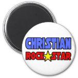 Estrella del rock cristiana imán de frigorifico