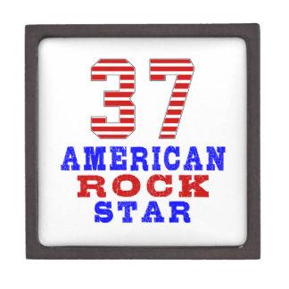 Estrella del rock de 37 americanos cajas de regalo de calidad