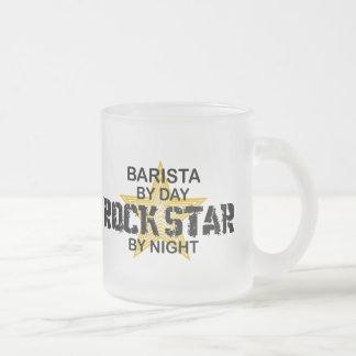 Estrella del rock de Barista por noche Taza De Café