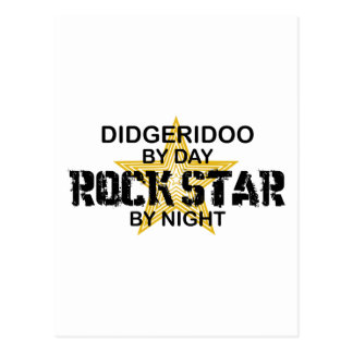 Estrella del rock de Didgeridoo por noche Postal