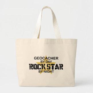 Estrella del rock de Geocacher por noche Bolsas