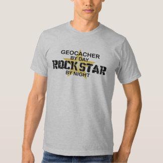Estrella del rock de Geocacher por noche Remeras