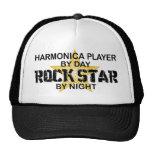 Estrella del rock de la armónica por noche gorro