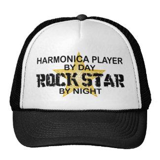 Estrella del rock de la armónica por noche gorro de camionero