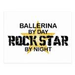 Estrella del rock de la bailarina por noche postal