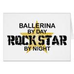 Estrella del rock de la bailarina por noche tarjetas