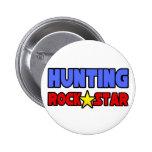 Estrella del rock de la caza pin