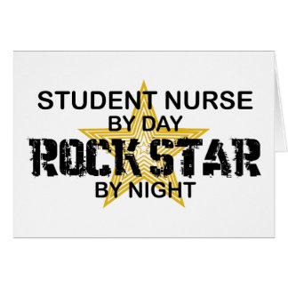 Estrella del rock de la enfermera de estudiante po tarjeton