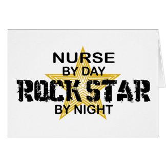 Estrella del rock de la enfermera por noche felicitación