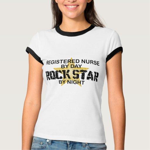 Estrella del rock de la enfermera registradoa por  playeras