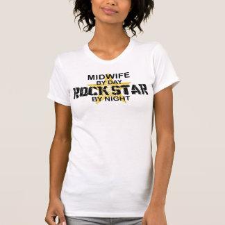 Estrella del rock de la partera por noche camisetas