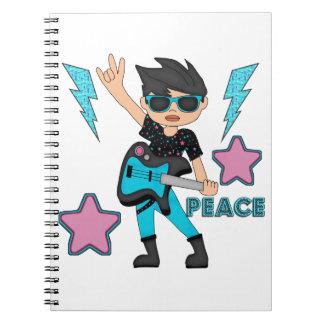 Estrella del rock de la paz libro de apuntes