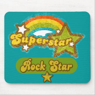 Estrella del rock de la superestrella alfombrilla de raton