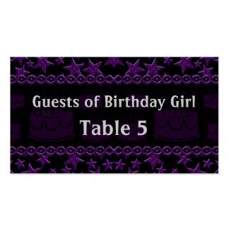 Estrella del rock de la torta de cumpleaños en tarjetas de visita
