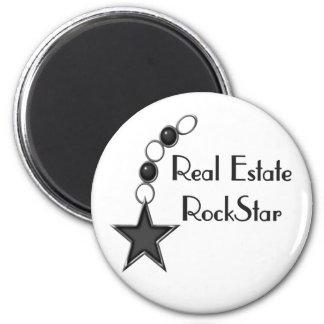 Estrella del rock de las propiedades inmobiliarias iman de frigorífico