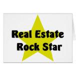 Estrella del rock de las propiedades inmobiliarias felicitaciones