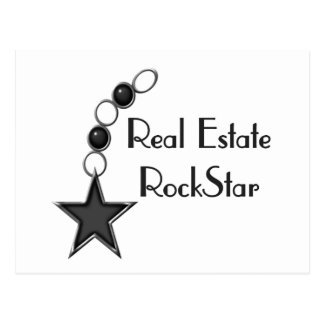 Estrella del rock de las propiedades inmobiliarias postales