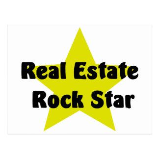 Estrella del rock de las propiedades inmobiliarias postal