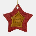 Estrella del rock de las vaqueras del navidad del  ornamentos de reyes magos