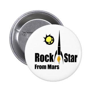Estrella del rock de Marte con la nave espacial Pins