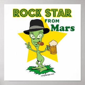 Estrella del rock de Marte Póster