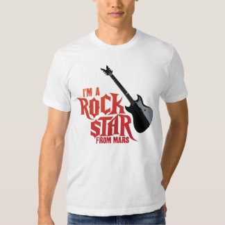 Estrella del rock de Marte Remeras