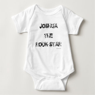 Estrella del rock de Onsie del bebé personalizada Playera