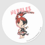 Estrella del rock de PEBBLES™ Etiquetas Redondas