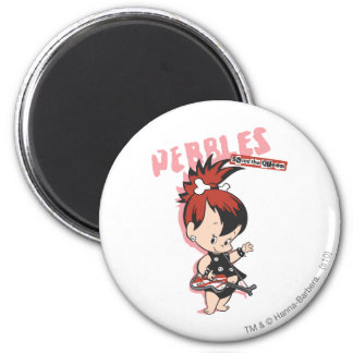 Estrella del rock de PEBBLES™ Imán Redondo 5 Cm