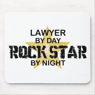 Estrella del rock del abogado por noche tapetes de ratones