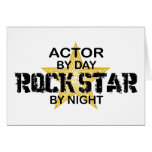 Estrella del rock del actor por noche felicitación