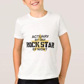Estrella del rock del actuario por noche playera