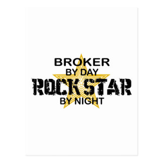 Estrella del rock del agente por noche postal