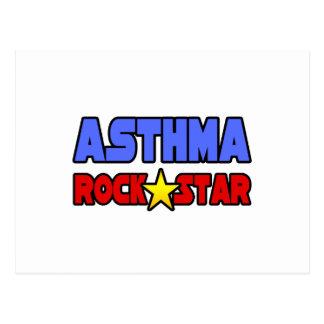 Estrella del rock del asma tarjetas postales