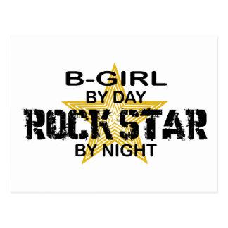 Estrella del rock del B-Chica por noche Postal