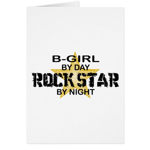 Estrella del rock del B-Chica por noche Tarjeton