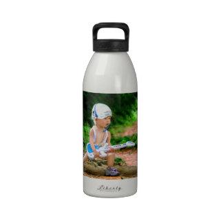 Estrella del rock del bebé botellas de agua reutilizables