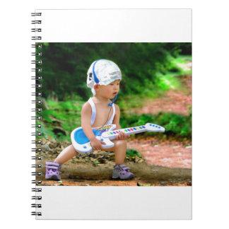 Estrella del rock del bebé libros de apuntes con espiral
