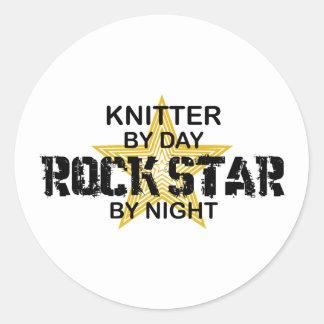 Estrella del rock del calcetero por noche etiquetas